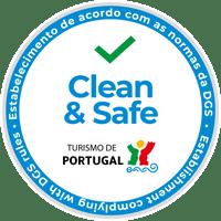 Selo Clean & Safe - Estabelecimento de acordo com as normas da DGS